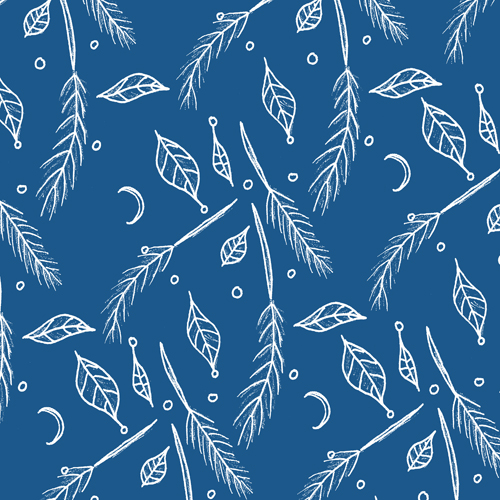 Falling Leaves and Feathers Pattern